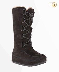 FitFlop Boots, Stiefel, Tall Mukluk, dunkelbraun.