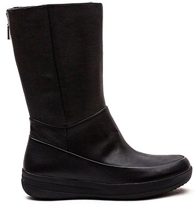 FitFlop Boots, Stiefel, Gogo Leder, schwarz.