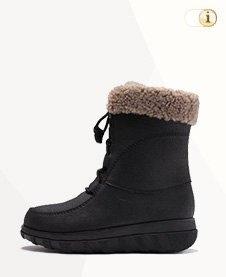 FitFlop Boots, Stiefel, Lace_Up, schwarz.
