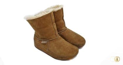 FitFlop Boots, Stiefel, Mukluk MOC 2, hellbraun.