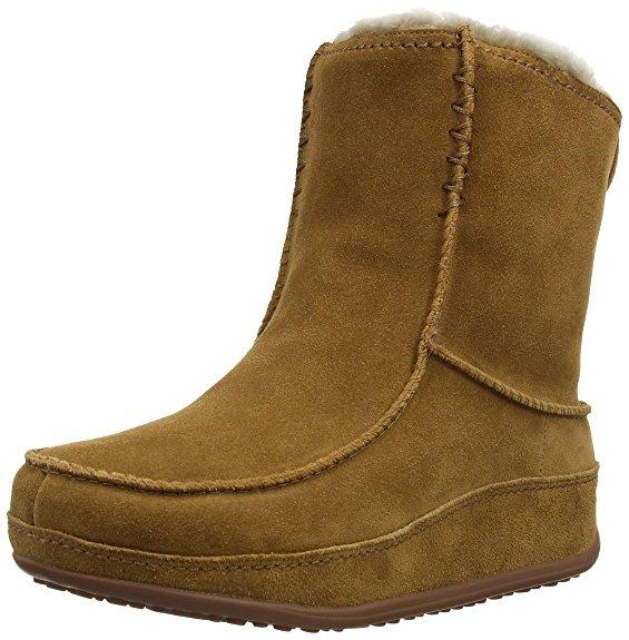 Braune FitFlop Schuhe für Damen, Stiefel Mukluk, braun.
