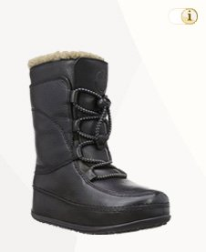 FitFlop Boots, Stiefel, Mukluk MOC Lace Up, schwarz.