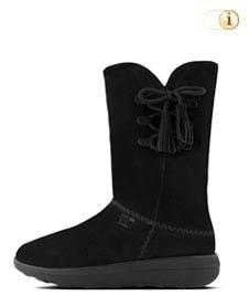 FitFlop Boots, Stiefel, Mukluk, schwarz.