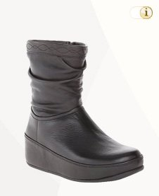 FitFlop Boots, Stiefel, Crush slouchy, schwarz.
