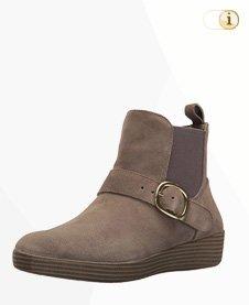 FitFlop Boots, Stiefelette, Superchelsea, graubraun.