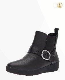 Schwarze FitFlop Damen Stiefel, Stiefelette Superchelsea, schwarz.