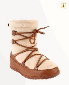 FitFlop Boots, Stiefel, Superblizz, Beige.