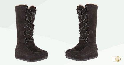 FitFlop Boots, Stiefel, Tall Mukluk Moc 2, Mocassins, dunkelbraun.
