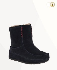 FitFlop Boots, Stiefel, Mukluk MOC 2, Mokassin, schwarz.