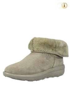 FitFlop Damen Winterstiefel, Mukluk Shorty, grau.