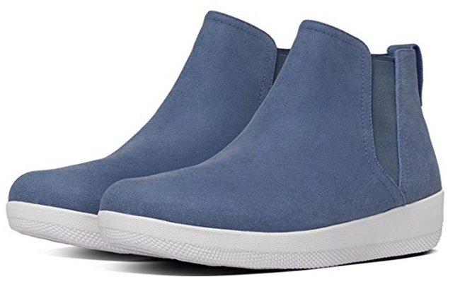 FitFlop Damen Superchelsea Stiefel, blau
