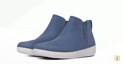 FitFlop Damen Superchelsea Stiefel, blau.