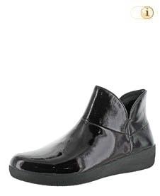 Schwarze FitFlop Damen Stiefel, Supermod Stiefelette, schwarz.