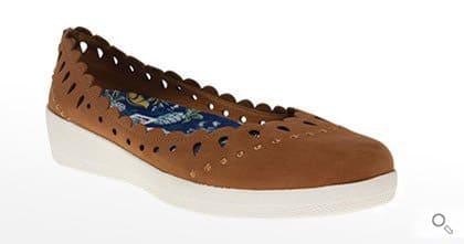 Braune Fitflop Schuhe für Damen, Ballerina, braun.