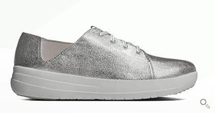 Silberner FitFlop Schuh für Damen, Sneaker, silber.