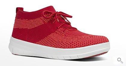 Fitflop Schuhe für Damen, UBERKNIT SLIP-ON HI TOP Schuh, classic red.