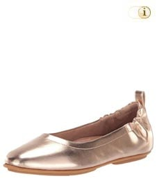 Fitflop Schuhe Damen, Allegro Metallic. Geschlossene Ballerinas, rose-metallic.