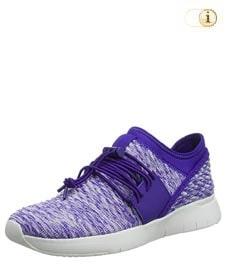 Fitflop Schuhe Damen, Artknit Angeline Lace Up Sneaker, blau.