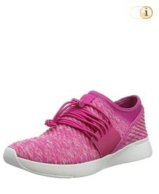 Fitflop Artknit Angeline Lace Up Sneaker, pink.