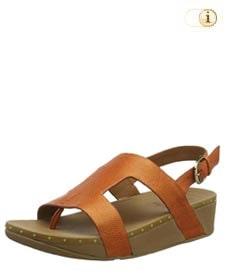 Fitflop Mia Sandale mit einer Nietenverzierung, amber.