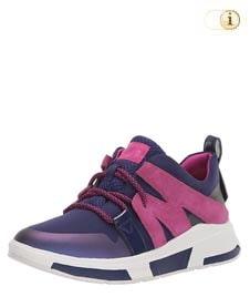 Fitflop Carita Sneaker mit auffälligen Zuglaschen, blau.
