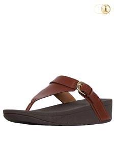 FitFlop™ Edit Sandale mit elegantem Schnallenriemen, braun.