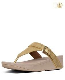 FitFlop™ Edit Sandale mit elegantem Schnallenriemen, goldfarben.