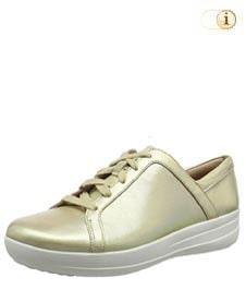 FitFlop™ Iridescent Sneaker in mettallic-grün.