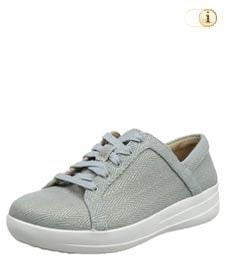 FitFlop™ Mirage Sneaker aus Canvas-Obermaterial, hellblau.