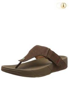 FitFlop™ Trakk Sandalen aus texturiertem Leder, braun.