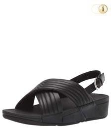 FitFlop Sandalette Lulu padded mit Fersenriemen. Farbe: schwarz.