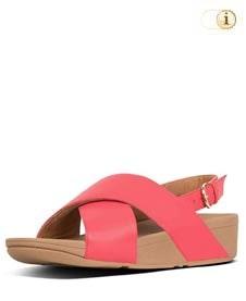 FitFlop Sandalette Lulu mit Fersenriemen. Farbe: pink.