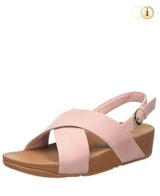 Fitflop Damen Lulu Cross Back-Strap Sandale, rosa.