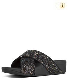 FitFlop Pantolette Lulu Glitter. Farbe: glitzy schwarz.