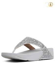 FitFlop Zehensteg-Sandale Lulu Glitter. Farbe: glitzy silber.
