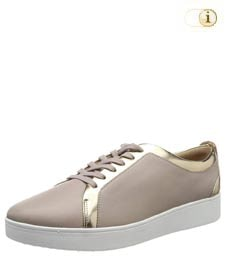 Fitflop Damen Rally Sneaker mit Metallic-Optik, mink.