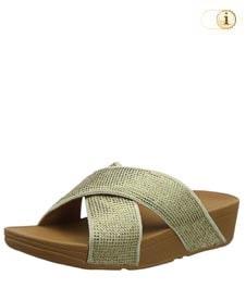 Fitflop Damen Ritzy Slide Sandale, grün.