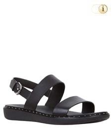 Schwarze FitFlop Damen Sandale Barra mit Ziernieten, schwarz.