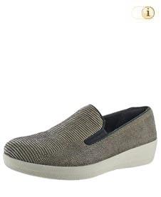 FitFlop Damen Superskate Schuhe mit Lizardprint, grau.