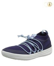 Blaue Fitlop Damen Ghillie Sneakers mit gekreuzten Schnürsenkeln, blau.