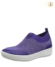 Blaue FitFlop Damen Schuhe, Uberknit Ballerinas, blau.