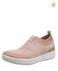 Rosa FitFlop Damen Schuhe, Uberknit Ballerinas, rosa.