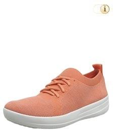 Orange Fitlop Damen Sporty Sneakers, apricot.
