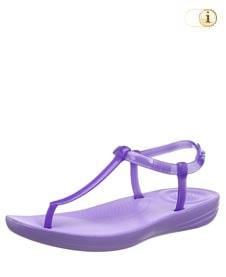 Fitflop iQushion Splash Sandale mit schmalem Fersenriemen, flieder.