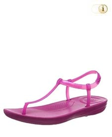 Fitflop iQushion Splash Sandale mit schmalem Fersenriemen, pink.